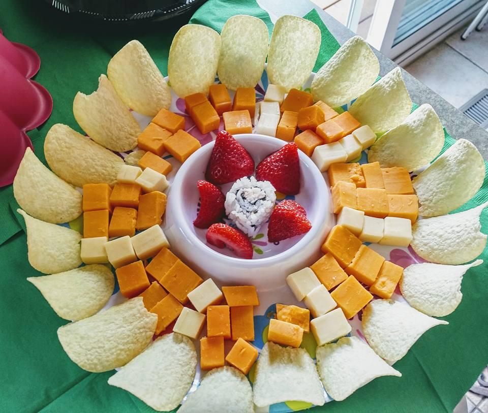 FOOD Art Cheese Mandala