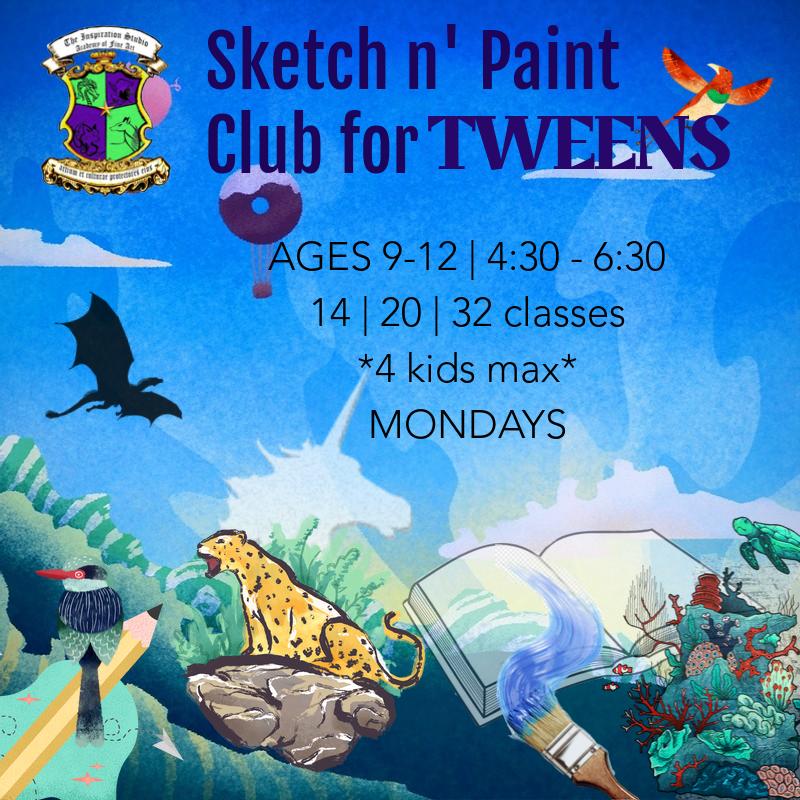 Sketch n' Paint Club for TWEENS_fall