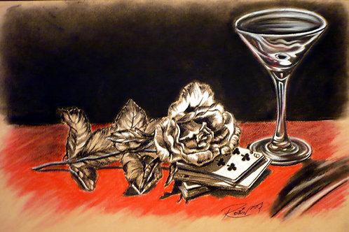 A Rose, a Martini & a Card Game