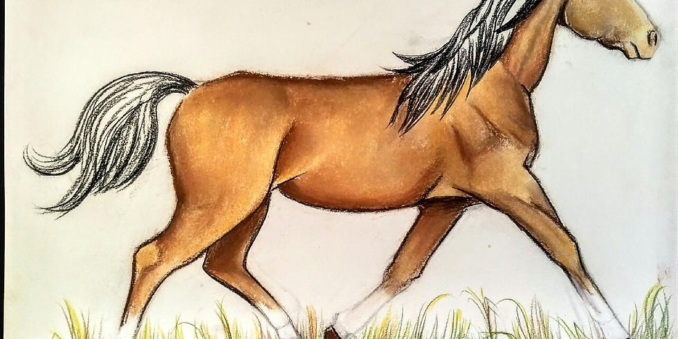 Horses & Ponies Art Class Continued!!!