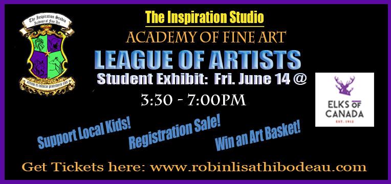 LEAGUEofARTISTS student exhibit poster20