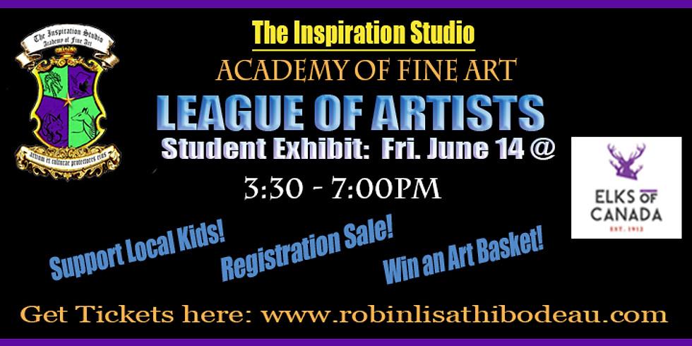 League of Artists Student Exhibit-Food Bank Fundraiser!