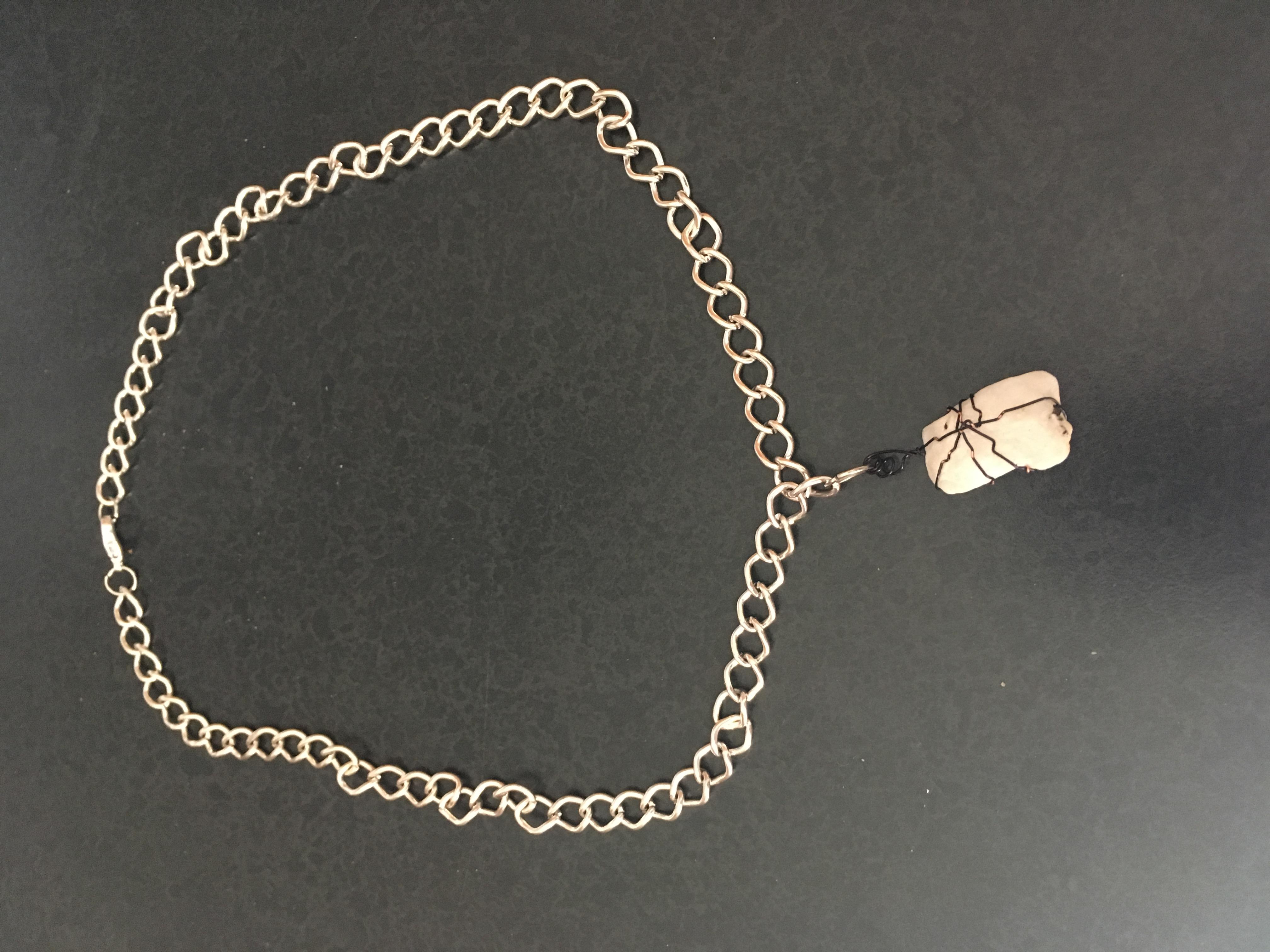 Emily's Rough quartzite pendant