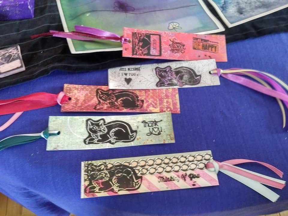 Printmaking Bookmarks by Aoife!