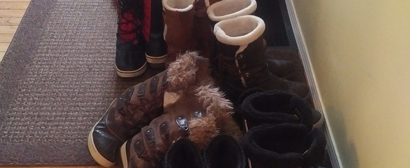 BOOTS filled the doorway!