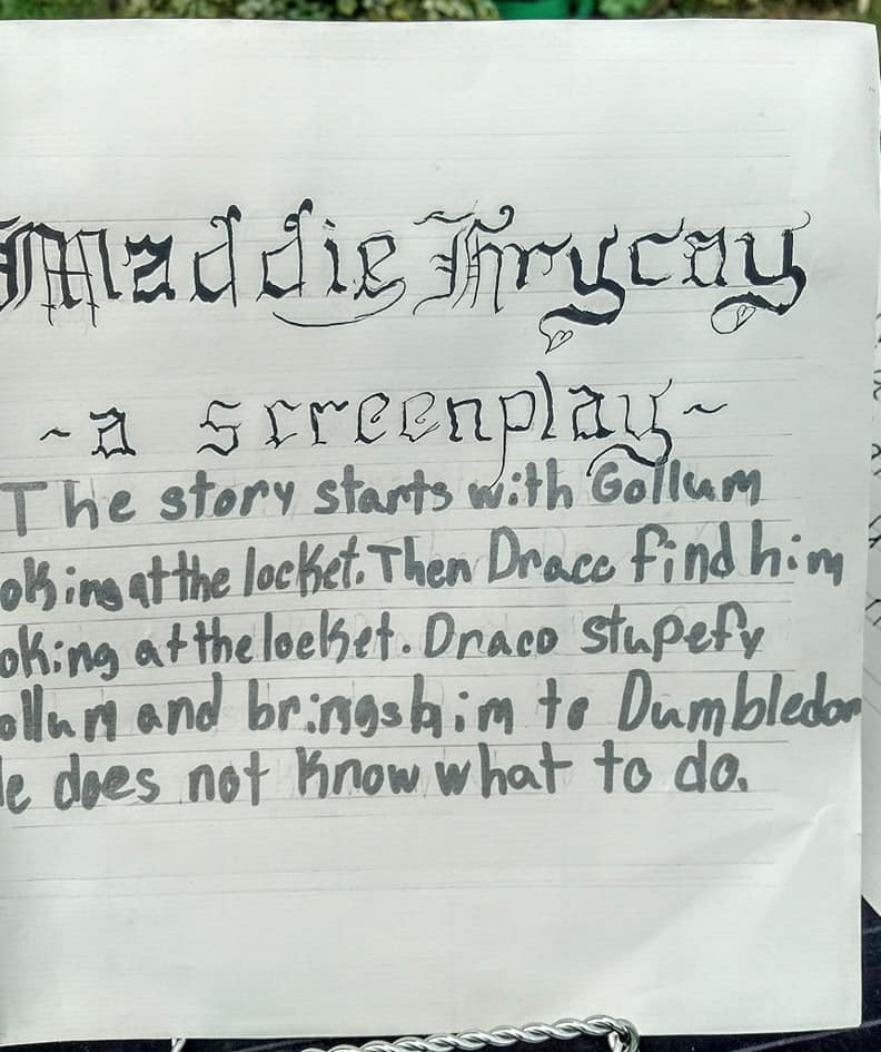 Handwritten Screenplays!