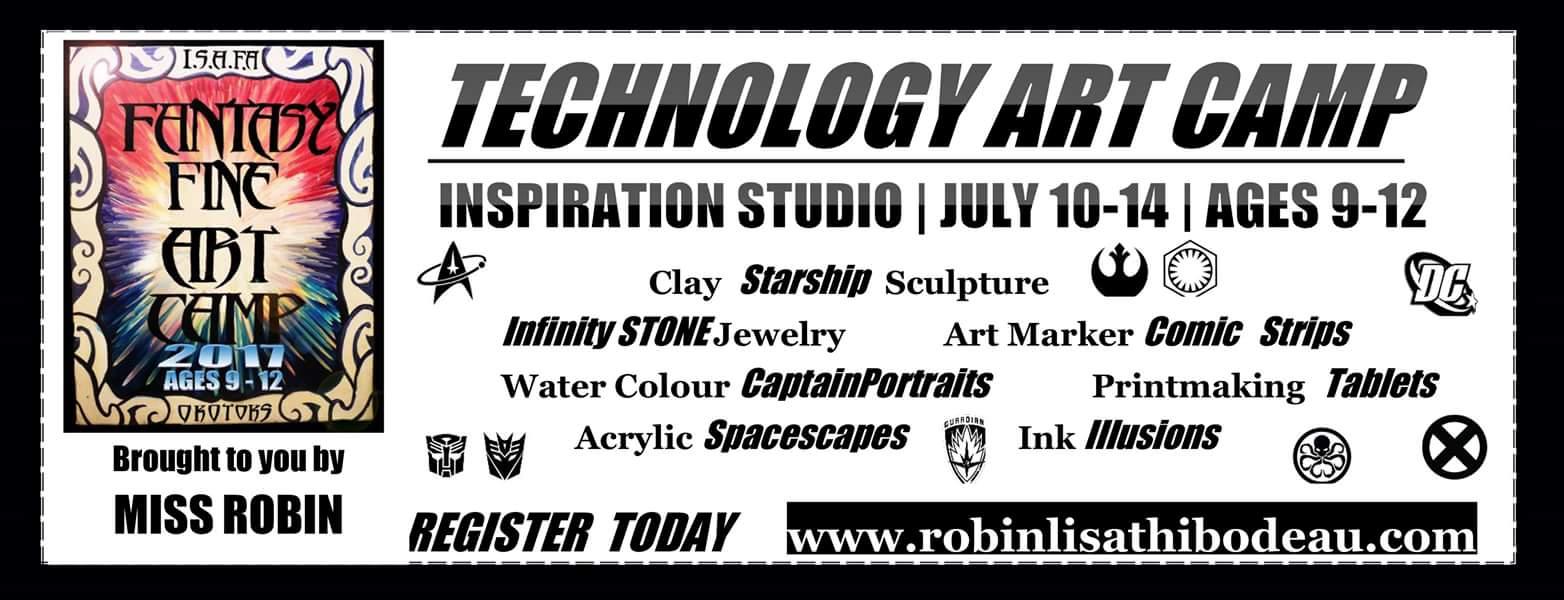 Technology Art Camp Exhibit