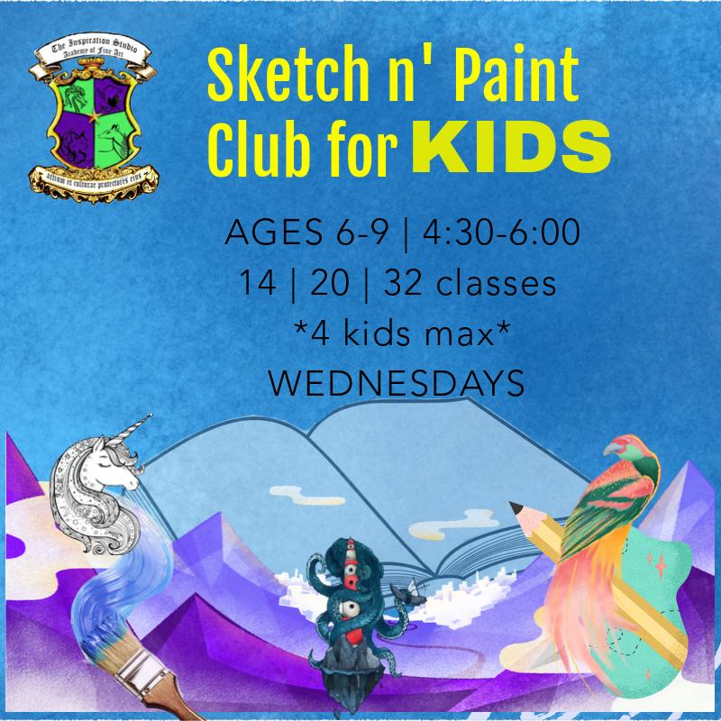 Sketch n' Paint Club for KIDS_Fall