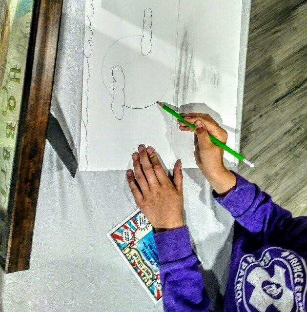 L.Nagy drawing her art challenge