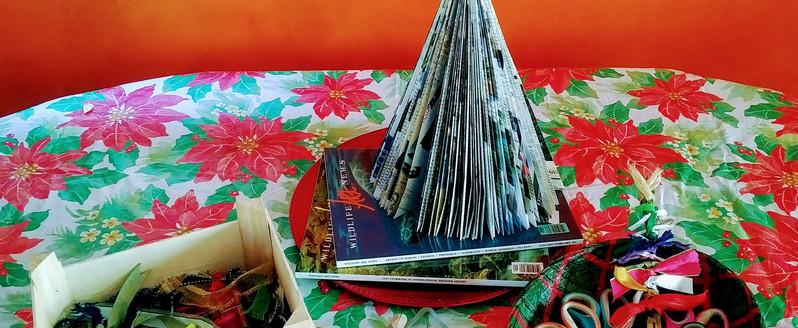 Magazine Trees & Ribbon Tree Crafts