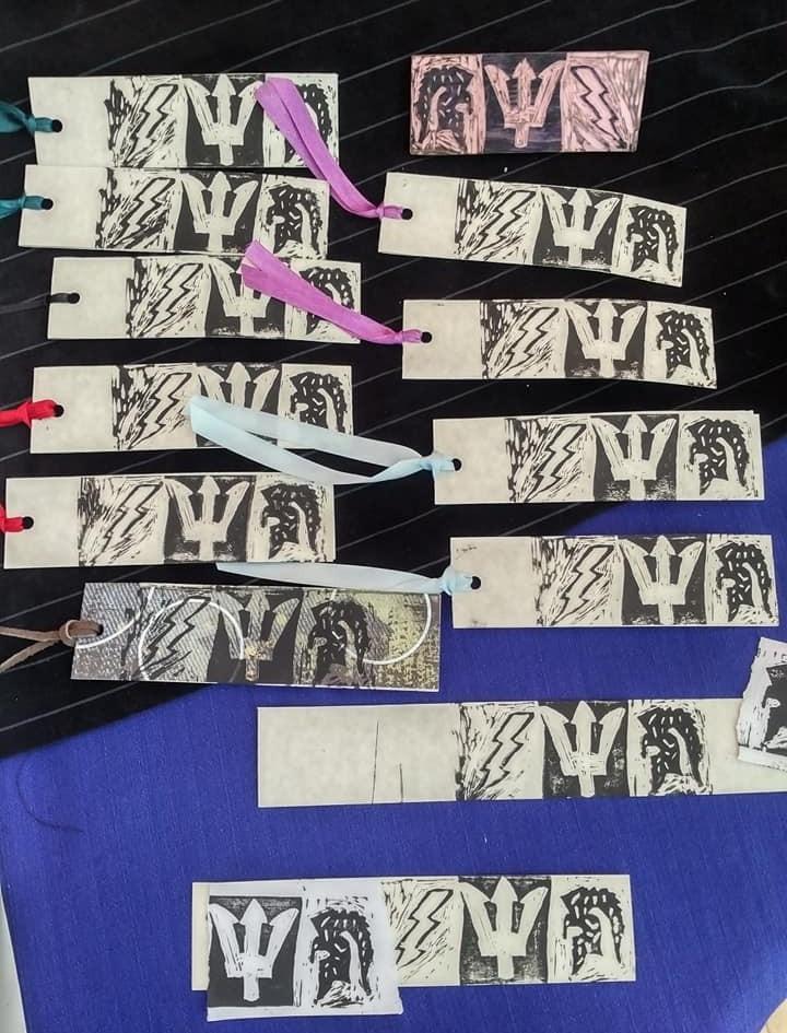 Printmaking Bookmarks by Jack M.