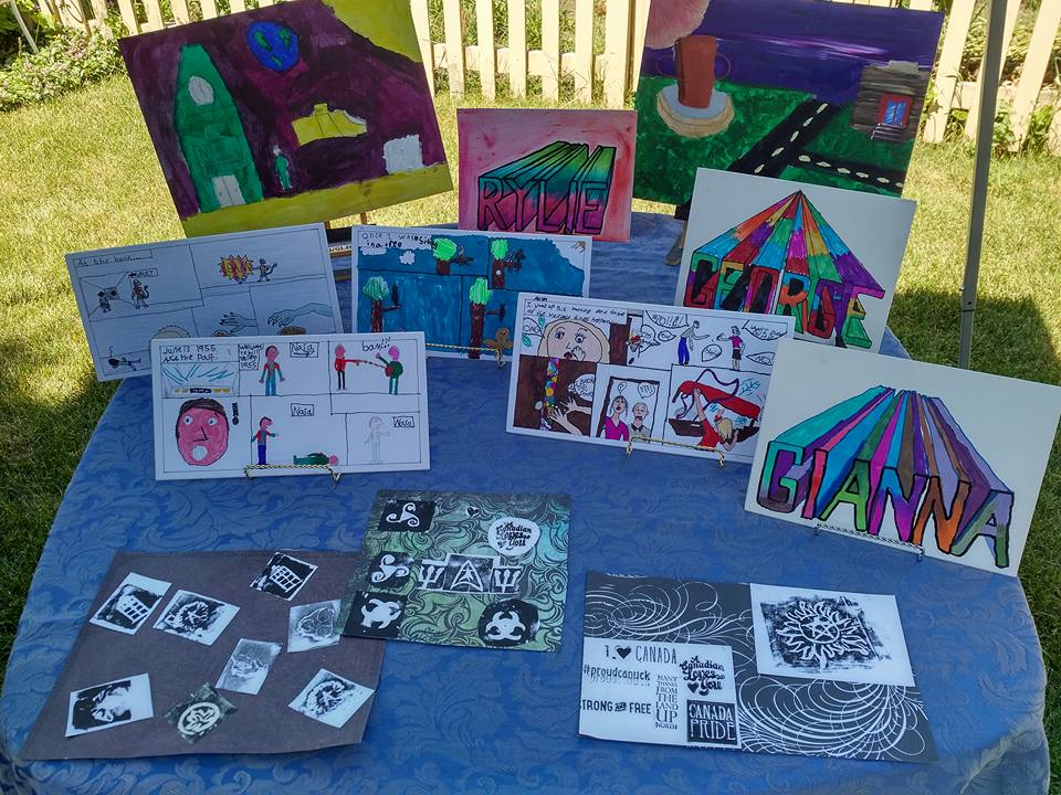 Table of July Tech Art Camp