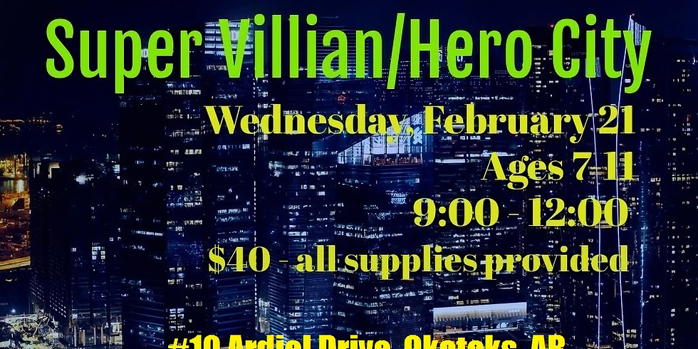 Painting Super Villain/Hero City