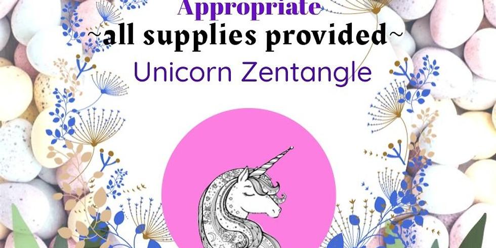 Unicorn Zentangle Take-Away Projects!