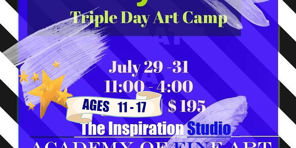 Tweens n' Teens Triple Day Art Camp!