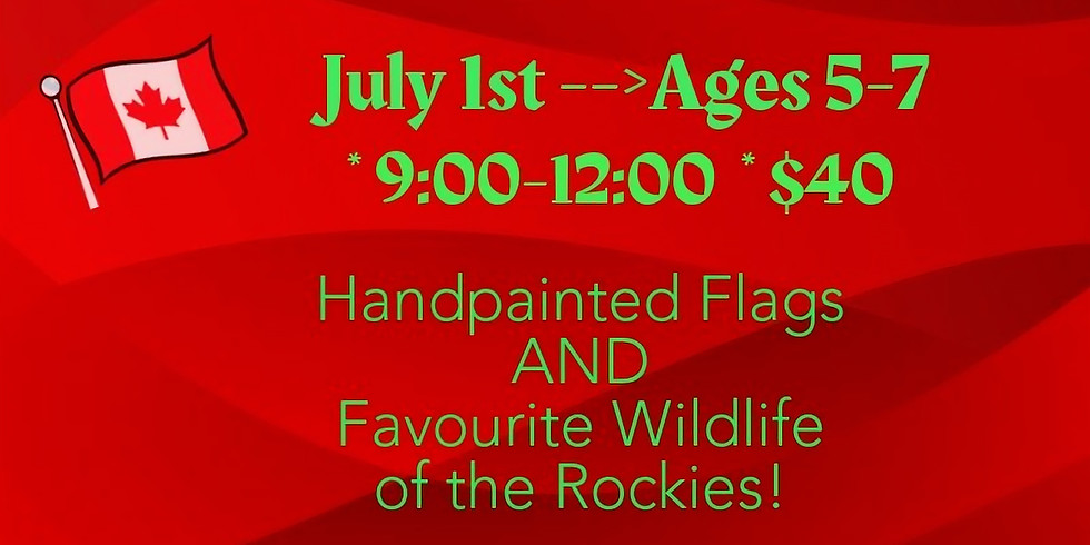 Celebrate Hand-painted Flags & Wildlife!
