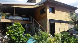 Maison mixte bois béton