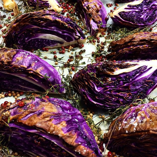 Roasted purple cabbage #familymeal #chef