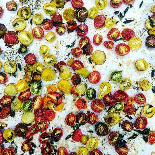 Roasted heirloom grape tomatoes #chef #c