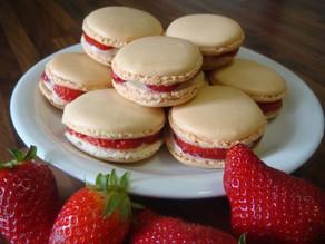 Recette : Macaron à la confiture de fraise senteur Coquelicot