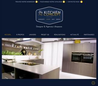Step'com vous présente sa dernière création de site internet pour My Kitchen My Concept