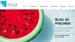 Step'com lance le site web de Bleu30 Piscines