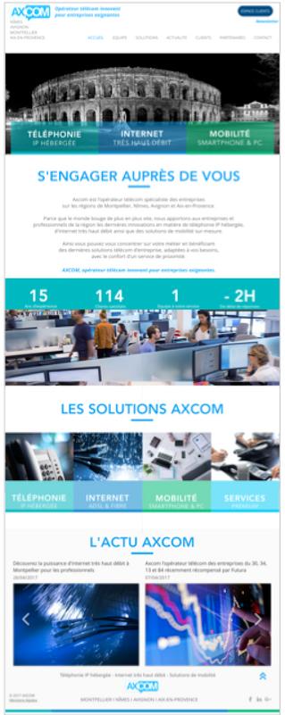 Création de site internet à Nîmes : Axcom nous confie sa stratégie digitale.