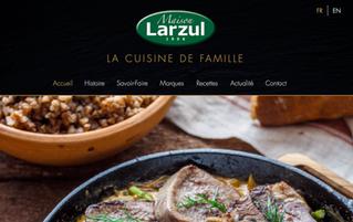 Step'com vous présente sa nouvelle création de site interner pour la Maison Larzul