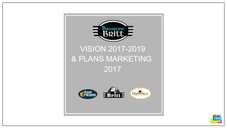 Brasserie Britt : plan marketing 2017
