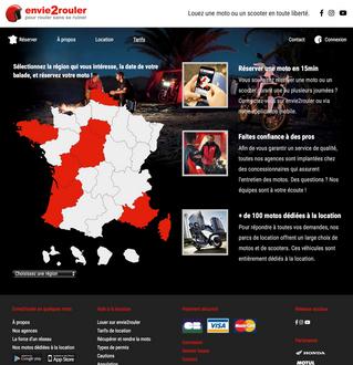 La société envie2rouler.com choisit l'agence Step'com à Nîmes pour optimiser son SEO