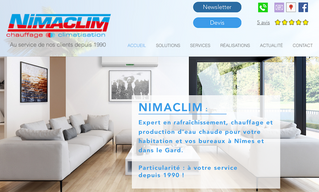 Nimaclim confie la création de son site internet à Step'com, agence web à Nîmes