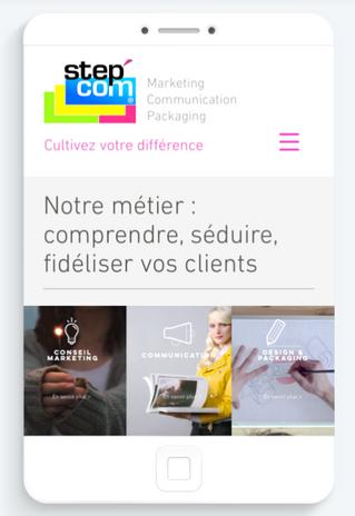 Lancement de notre nouveau site internet www.stepcom.fr