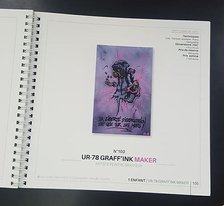 UR-78 décoration graffiti, exposition, vente aux enchères Drouot, UR-78 vente Drouot galerie, tag, street art