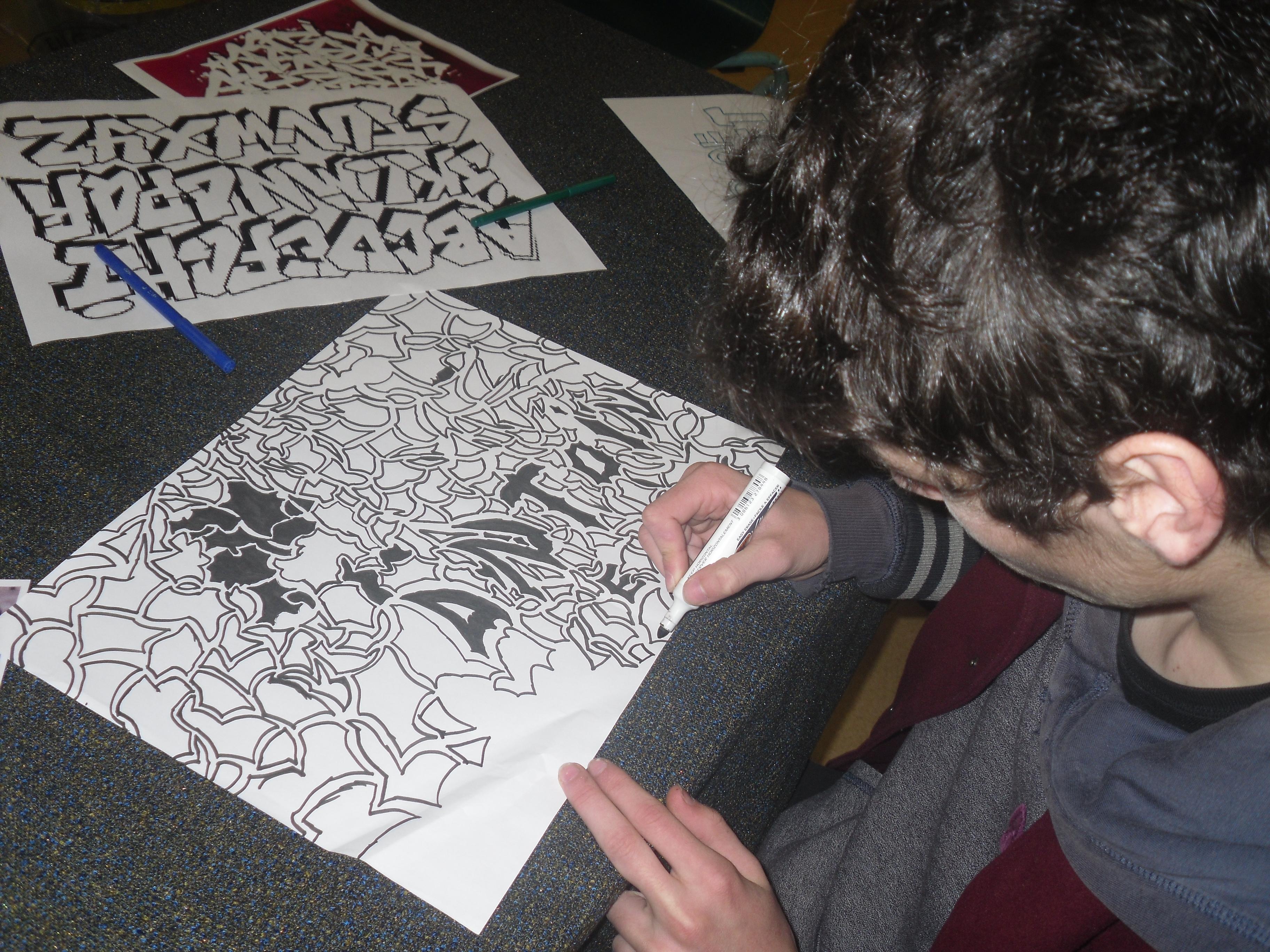 Création d'un élève durant l'atelier