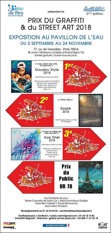 UR-78 gagant du prix special du public lors du Prix du Graffiti et du Street Art 2018, DECO GRAFFITI, Graffiti, art, spray paint art and spray can