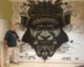 UR-78 artiste graffiti, deco graffiti sur porte d, tag, design et street art, UR-78 deco chambre d'enfant, street art, spray paint art, UR78 artiste graffiti, samurai, kabuto, deco samurai, l'art seine, UR-78 deco graffiti, tag, tagueur, street art, ur78, samurai noir et gris graffit