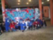 UR-78 deco graffiti et atelier graffiti avec les eleves du pensionnat les Apprentis d'Auteuil de Sannois (95)materiel utilisé par graff ink maker pour les deco graffiti, bombe, gants, masque