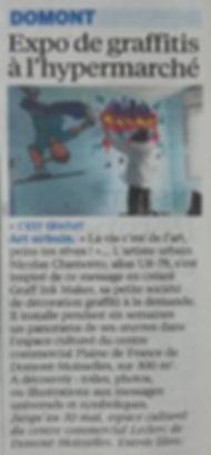 UR-78 article paru dans Le Parisien du 16 avril 2016 pour l'exposition graffiti et street art