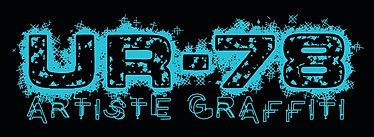 UR-78 logo turquoise design creator deco graffiti eclaboussureavec