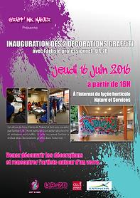 UR-78 deco graffiti, atelier graffiti animé par UR-78 pour la mairie de Sannois avec les enfants, graffiti sur casquette, vinyles, toiles, deco graffiti…