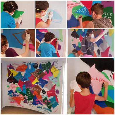 UR-78 deco graffiti, atelier graffiti animé par UR-78 avec les enfants, deco graffiti, tag, street art, graffiti professionnel