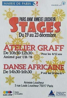 UR-78 atelier graffiti avec la ville de Paris, customisation de vinyle et affiche, deco graffiti, PARIS ANIM'