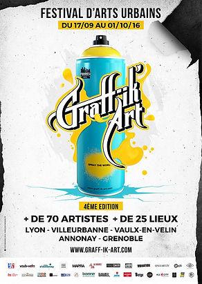 UR-78 deco graffiti, FESTIVAL GRAFF'IK-ART 2016 à Lyon street art pour le salon sans nom #3