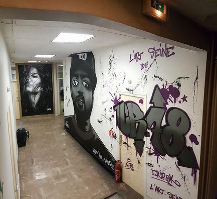UR-78 artiste graffiti, deco graffiti pour l'art seine, ice cube portrait, portrait graffiti de Ice cube, spray paint art, tag, design et street art, UR-78 deco graffiti, UR-78 portrait ice cube, L'art Seine