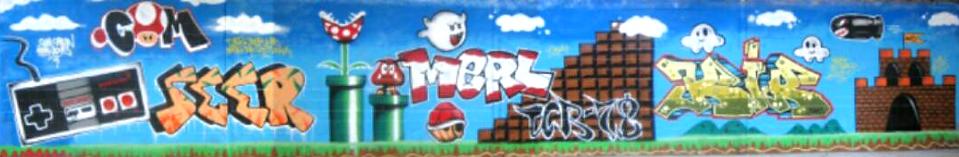UR-78 fresque graffiti avec seer kir et merle theme mario bros