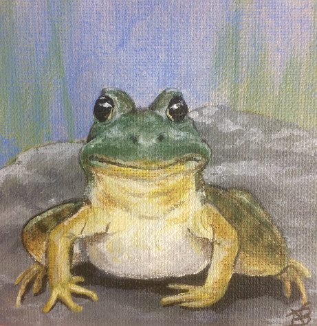 "SOLD - ""Happy Frog"""