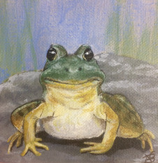 "SOLD - ""Happy Frog"""