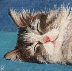 """SOLD """"Resting Kitten"""""""