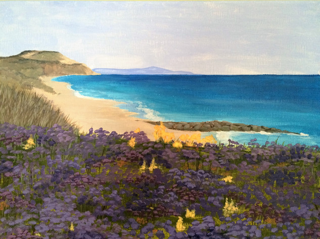 Beach in Bloom - Sold