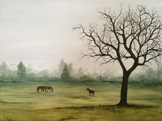 SOLD - Misty Fields